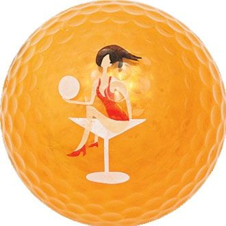 Navika Ladies Orange Metallic Bling Sleeve of Golf Balls (3) - Golfaholic