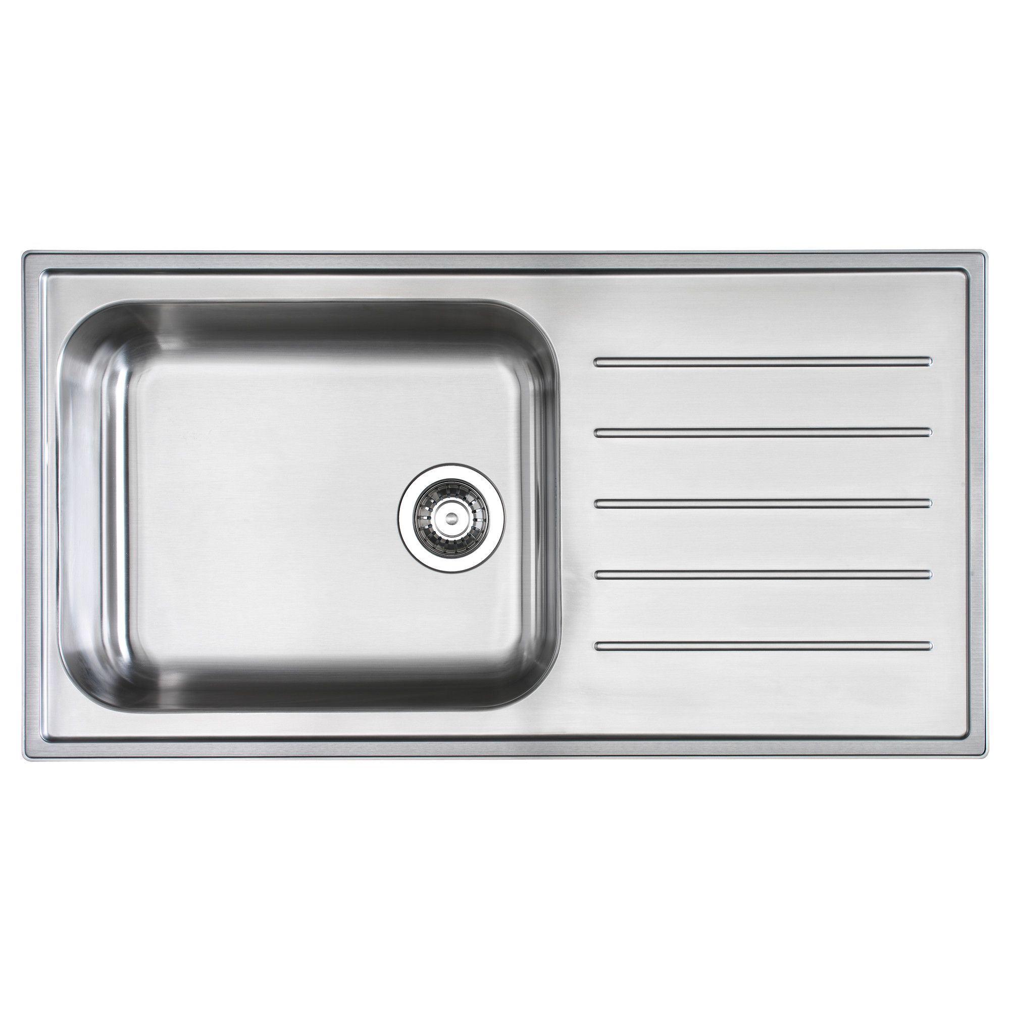 BOHOLMEN 1 Bowl Inset Sink With Drainer - IKEA