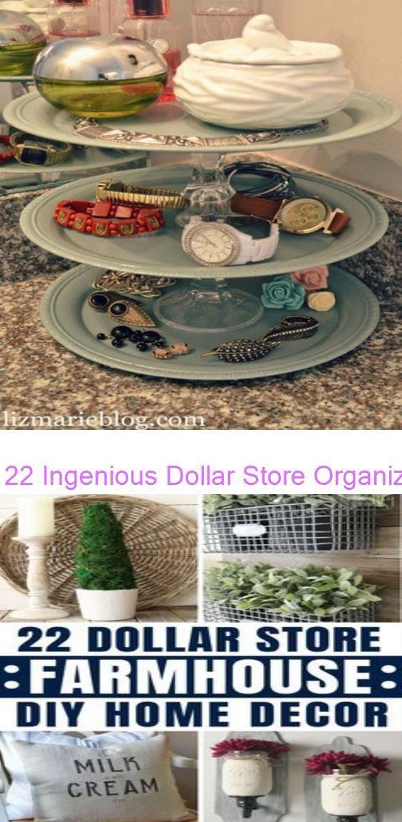 22 Ingenious Dollar Store Organization Ideas 22 Amazing Dollar Store DIY Farmhouse Decor Ideas