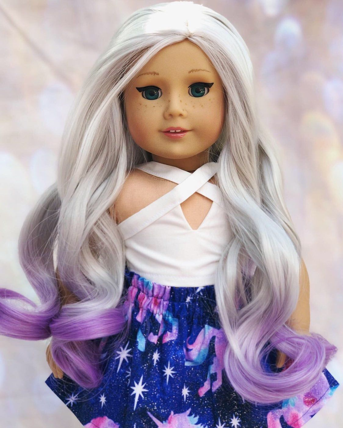 This custom doll was made from an American girl of the