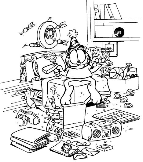 Garfield Coloring Pages 24 coloring pages Pinterest - new online coloring pages for cars