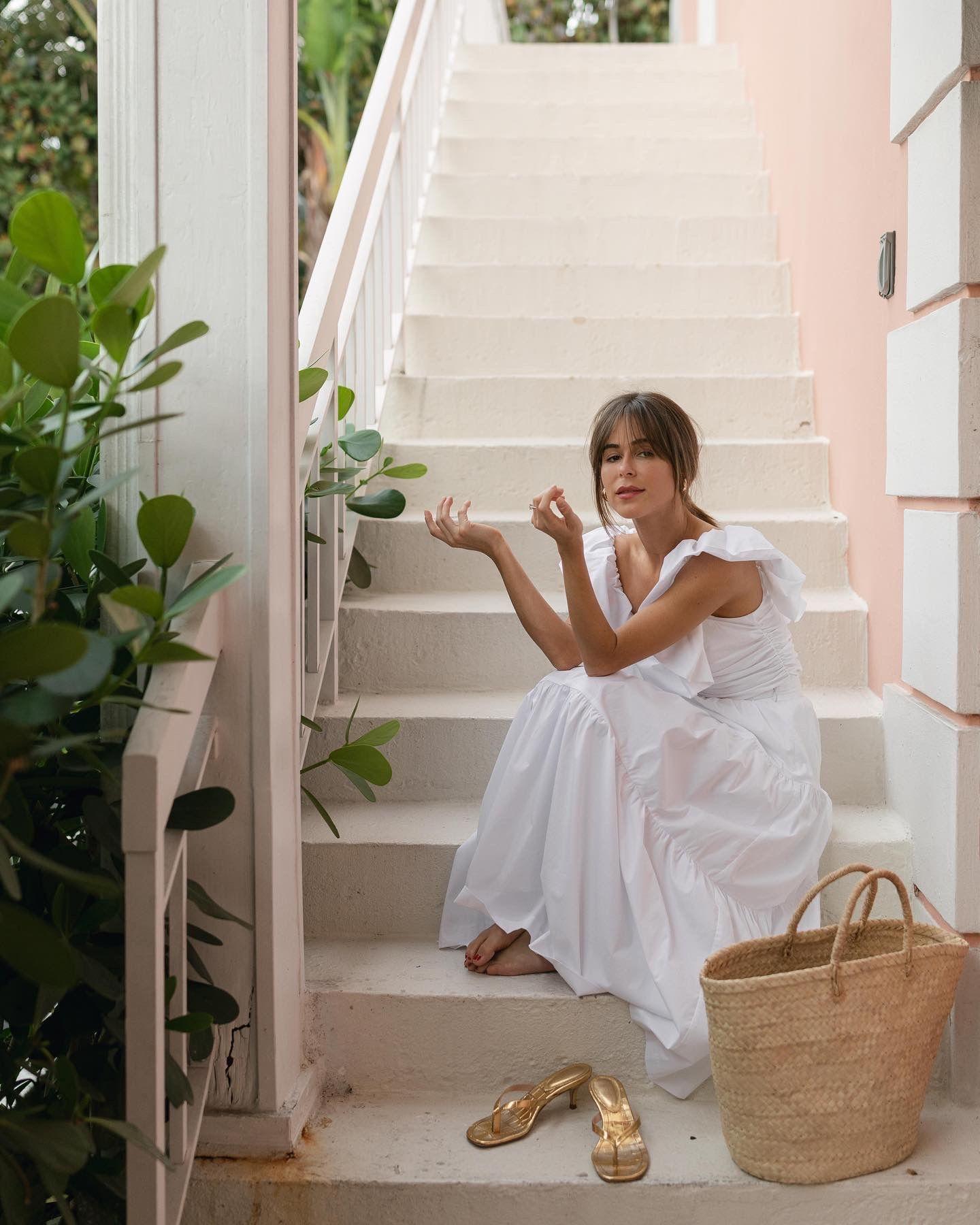 May 26 2020 Summer Chic Street Fashion Photography White Dress [ 1800 x 1440 Pixel ]