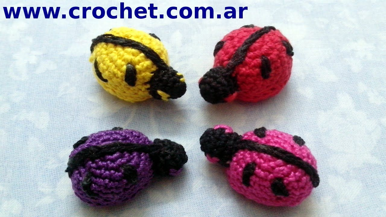 Vaquita San Antonio O Mariquita Amigurumi En Tejido Crochet Tutorial