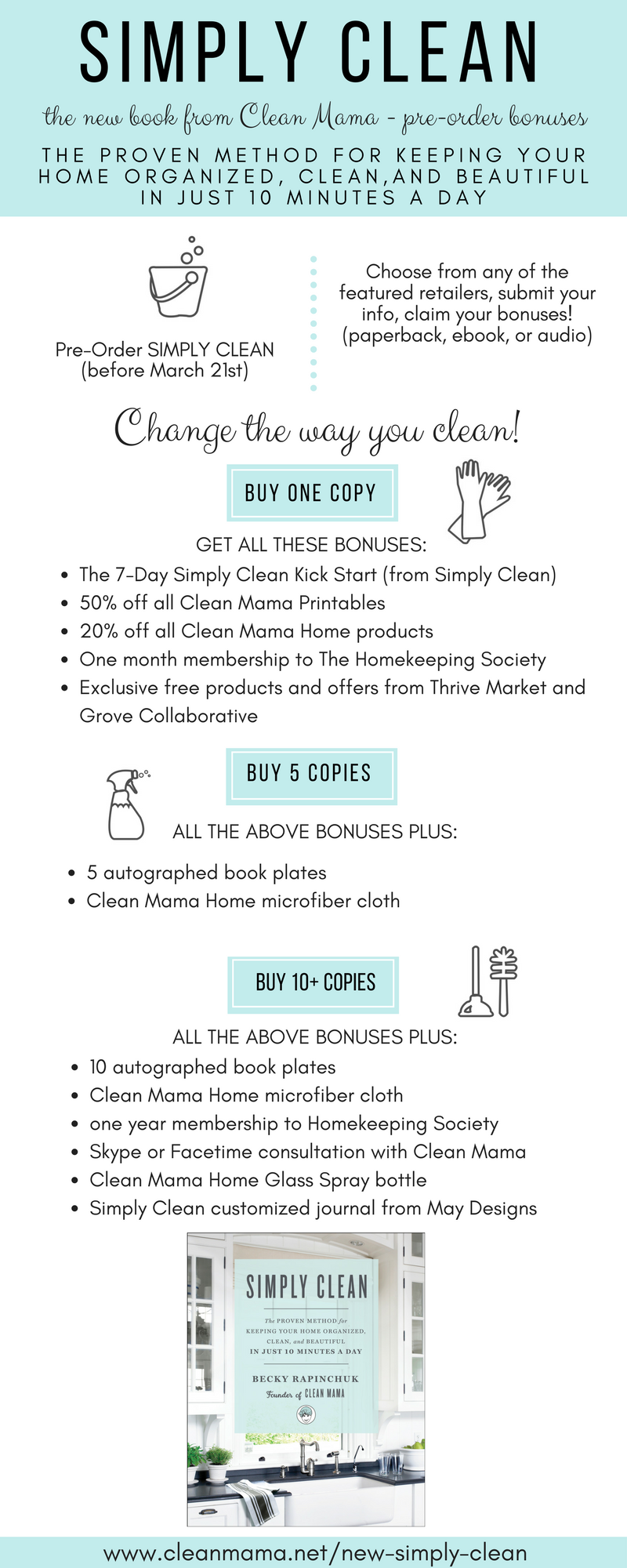 You guys! I'm so excited to share the pre-order bonuses for Simply Clean with you today.First things first, I'd like to answer a couple questions I've heard from readers about Simply Clean and then we can chat about the fab bonuses and freebies (over $50 value for purchasing ONE book)! And yes, if you already... (read more...)