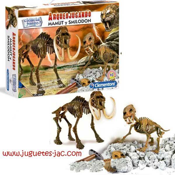 Descubre fantásticos fósiles, excava y descubre un Mamut y un Smilodom