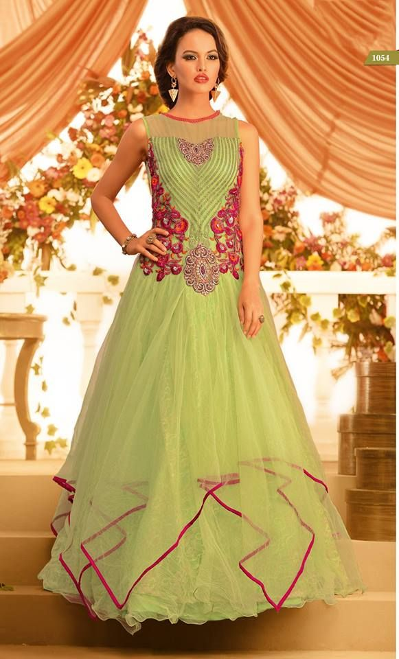 4d9f54c47fd Pista Colored gown with Soft Net