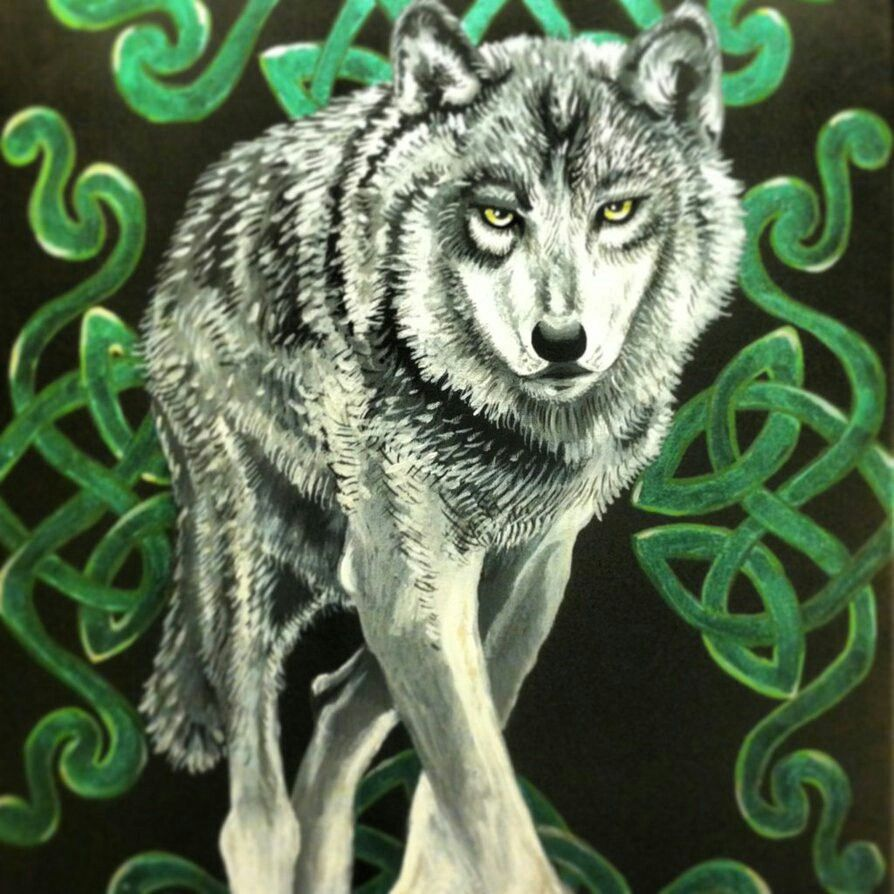 COOL CELTIC WOLF ART ...