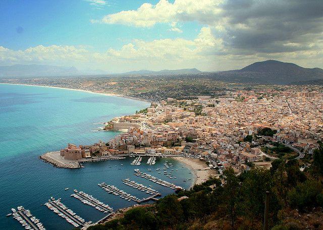 view over Castellammare del Golfo in the north-western #Sicily
