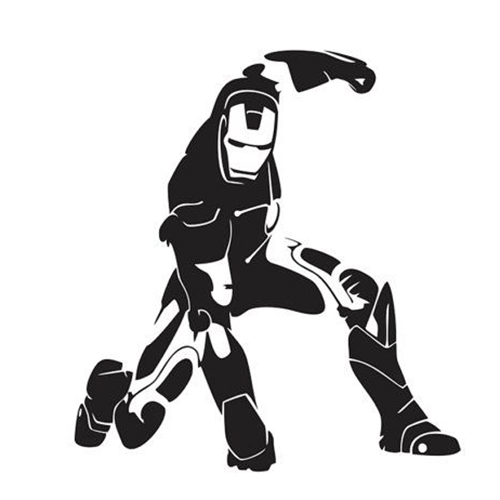 Ironman Die Cut Vinyl Decal PV For Windows Vehicle Windows - Vinyl decals for car body