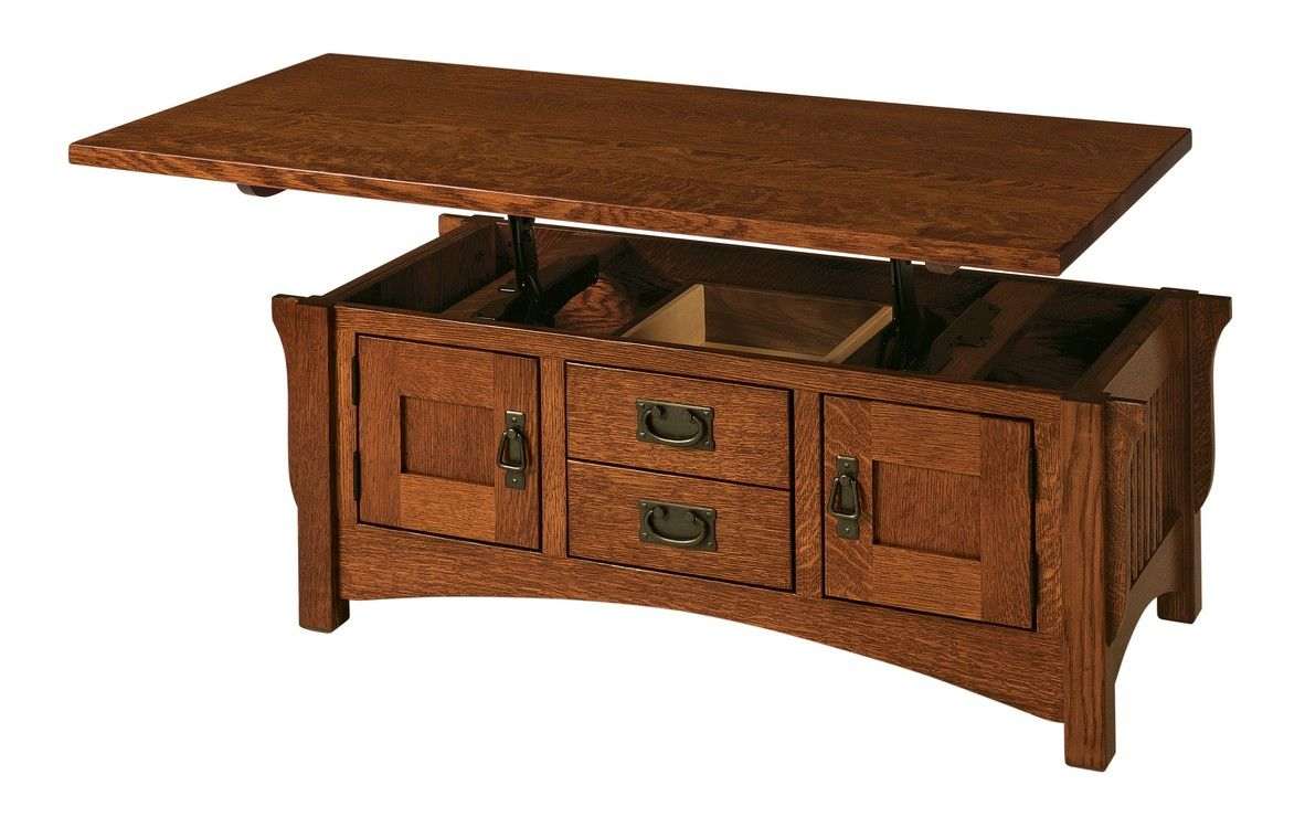 Lift Top Coffee Table Buckeye Amish Furniture Logan Lift Top