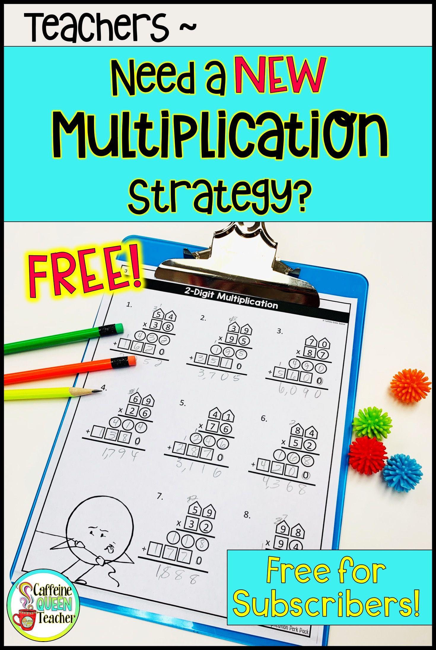 2 Digit Multiplication Pack
