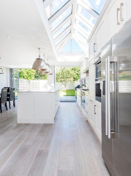 15 atemberaubende graue Küche Boden Design-Ideen Küchen Ideen