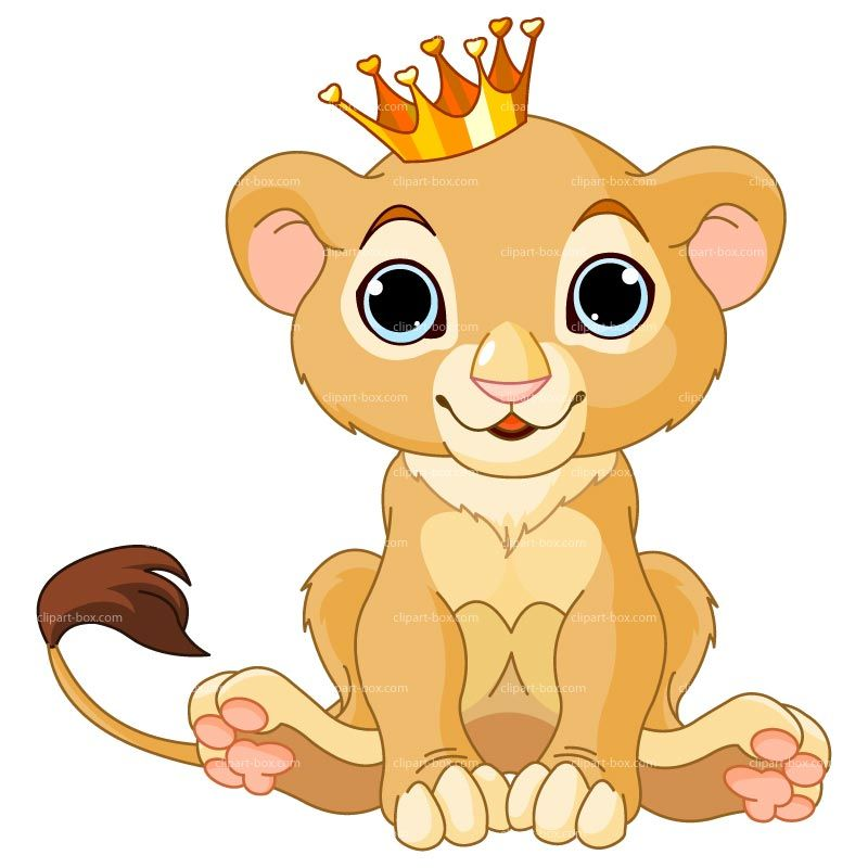 Clipart Baby Lion With Crown Royalty Free Vector Design Lion King Images Lion King Baby Baby Clip Art