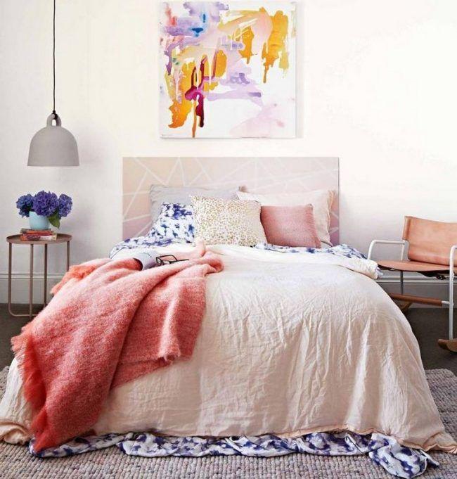 Pastell Schlafzimmer Farben rose-koralle-satingrau Schlafzimmer