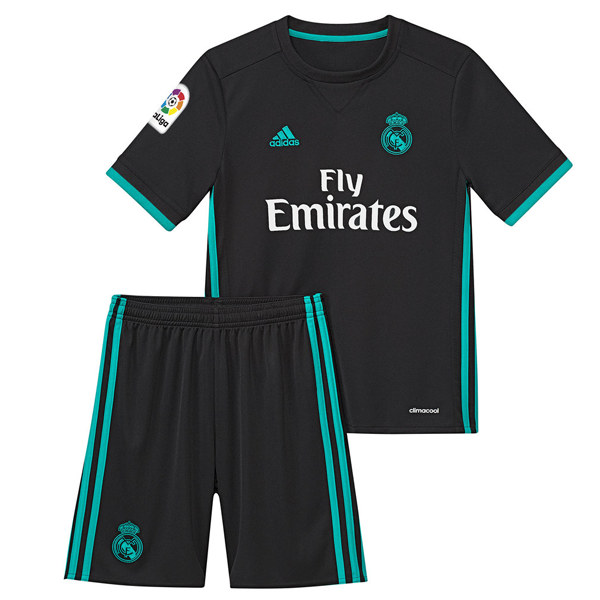 9356212a7 Real Madrid Away Kids Football Kit 2017 18 This is the Real Madrid Away Kids  Football Kit 17 18. Wear the new navy blue away jersey of Ronaldo