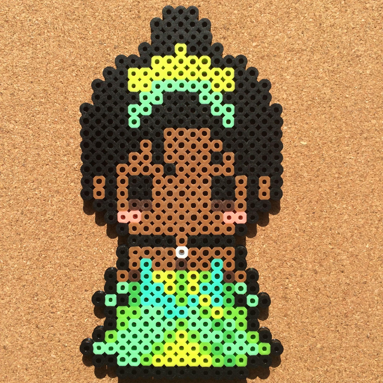 Princess Beads: Tiana (The Princess And The Frog) Perler Beads By Tsubasa