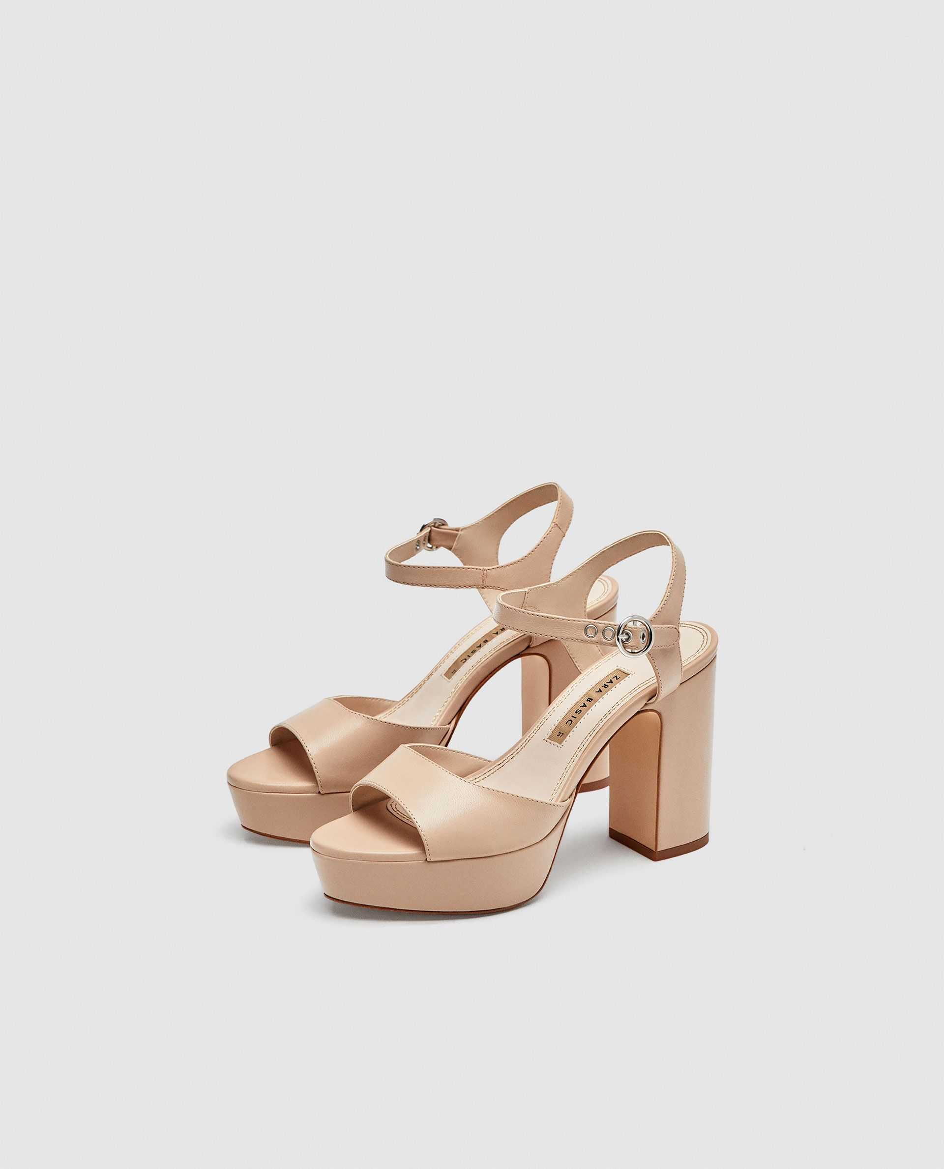 ea4fb00280a ZARA - AW 18 - LEATHER PLATFORM HIGH-HEEL SANDALS