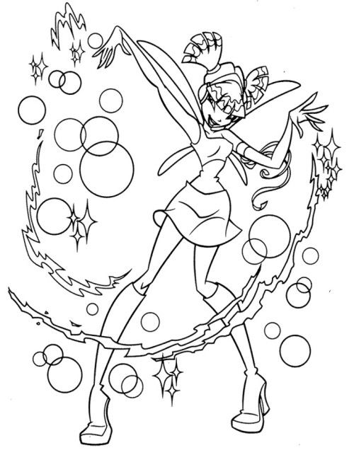 Printable Winx Club Coloring Book   Kids Coloring Pages   Pinterest