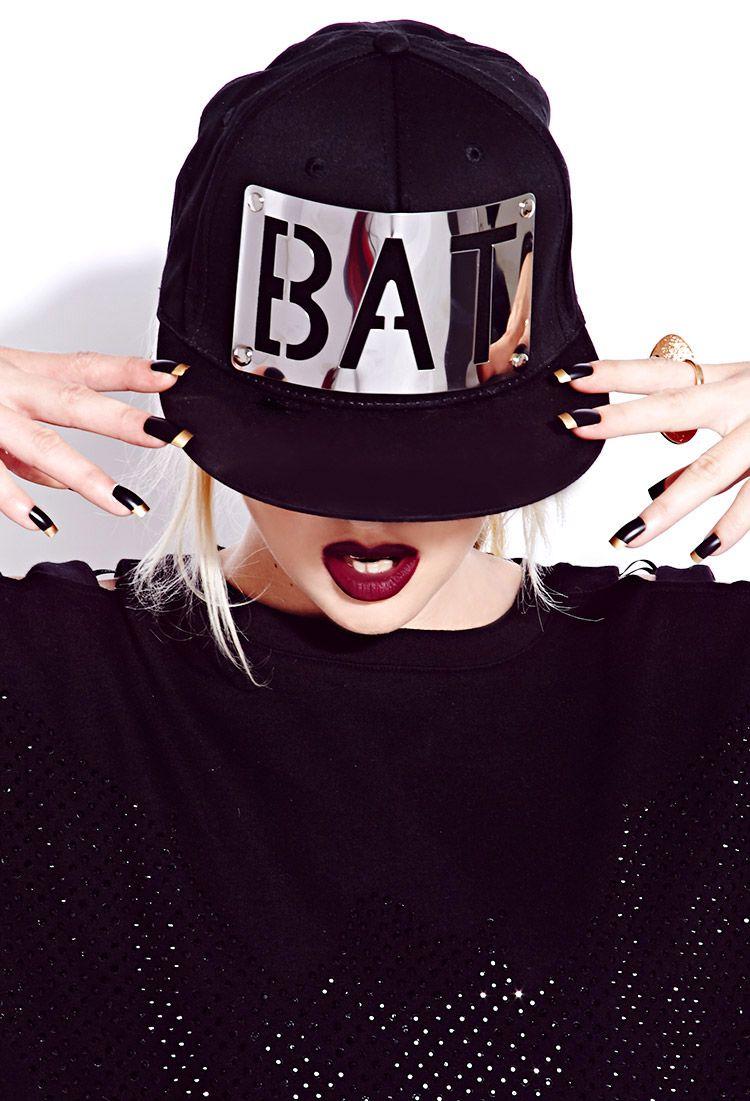 Standout Bat Baseball Cap | FOREVER21 Team bat #Accessories #F21BatsXCats #BatsAndCats #Hat