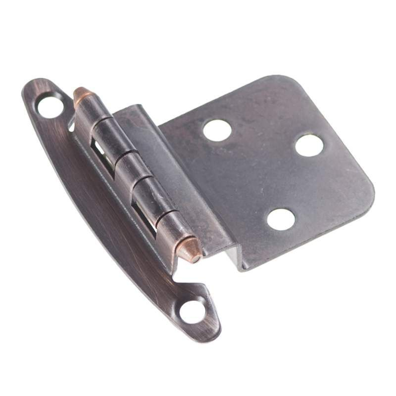 Hickory Hardware P140 Surface Mounted Cabinet Hinge 3/8 Offset Venetian Bronze  Cabinet Hinges Inset