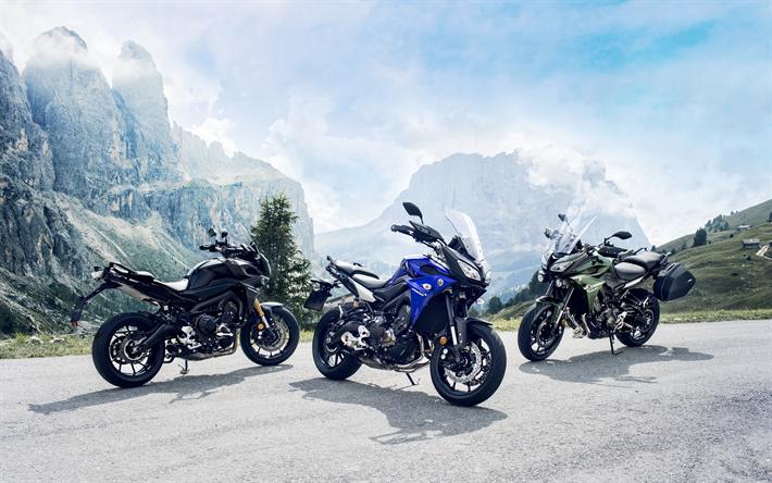 Download Wallpapers Yamaha MT-09 Tracer, 4k, 2018 Bikes