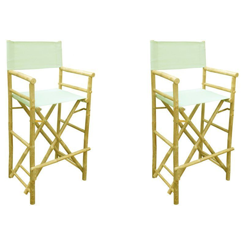 Outdoor Phat Tommy Foldable Tall Directors Chairs Set Of