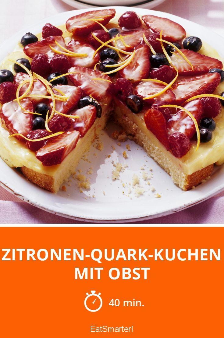 Zitronen Quark Kuchen Mit Obst Rezept Backen