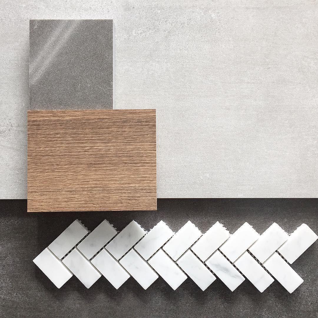 Herringbone || A popular choice #Carrara #herringbone #tiles #tile #tilelove #tiling #moodboard #style #bathroomdesign #interiors #interiordesign #TileCiti #Melbourne by tileciti