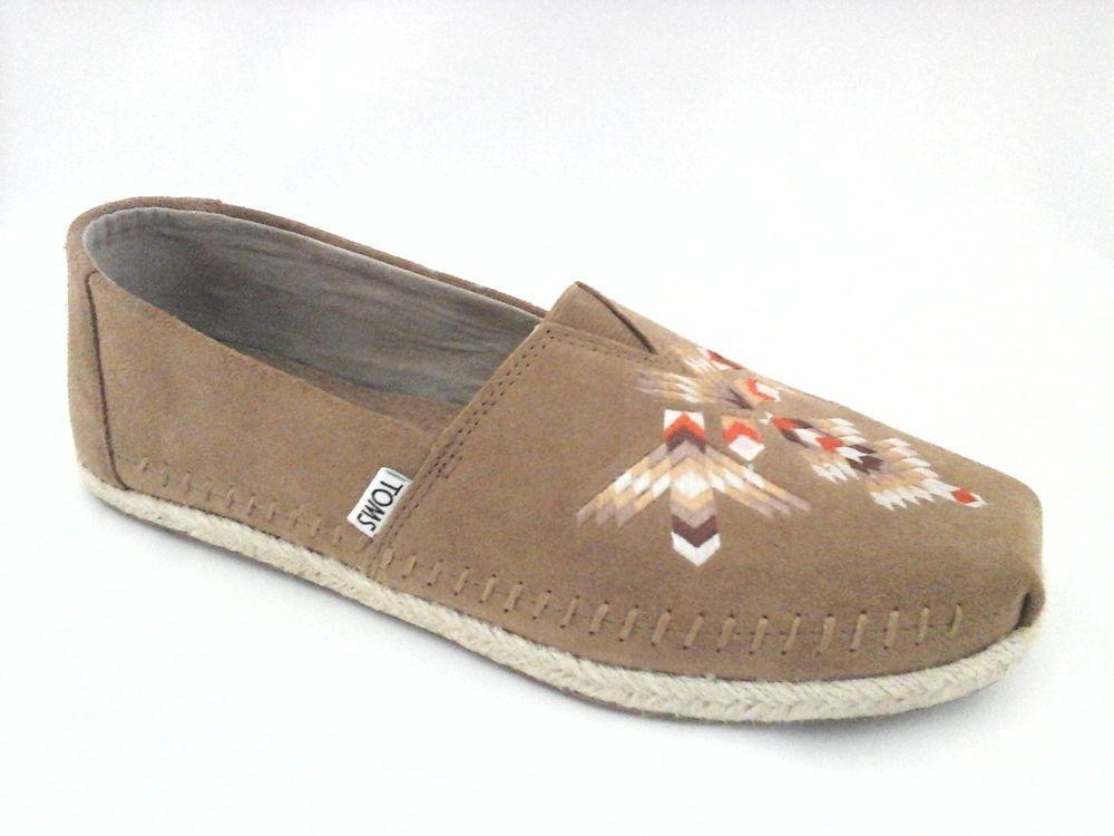 big sale 447c7 03ebd TOMS Shoes ALPARGATA Tribal Embroidered Moccasins Loafers Southwestern Mens   109  Toms  LoafersSlipOns