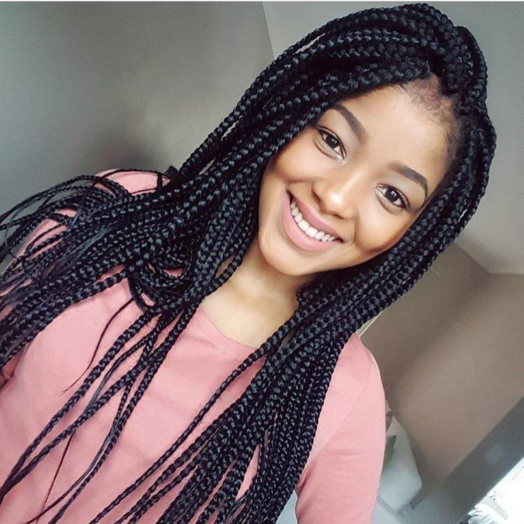 Braids with extensions natural hair Tresses cheveux