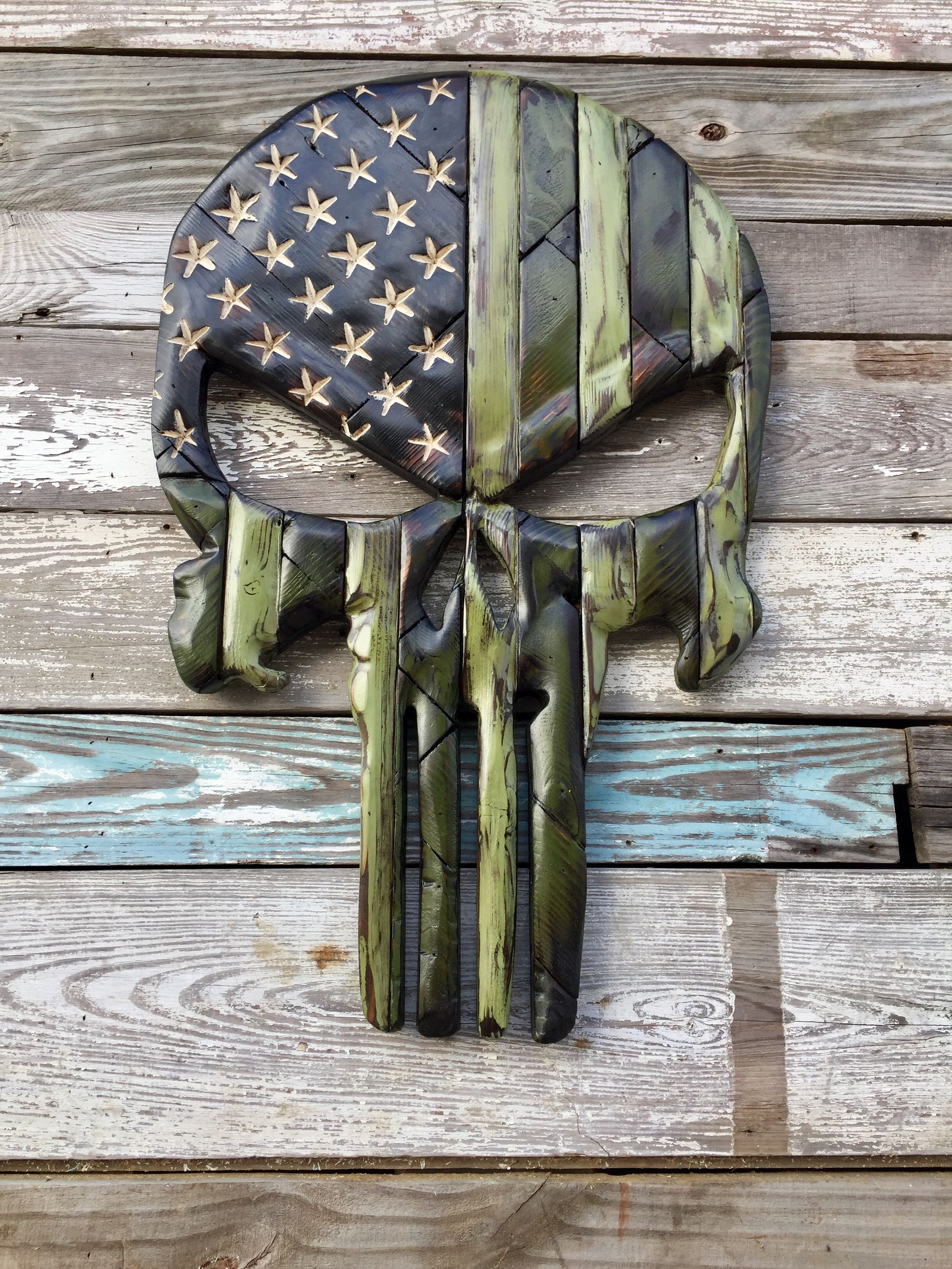 Military Skull Nevermore Creations Woodworking