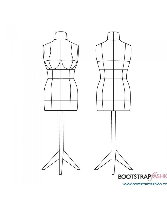 DIY Stuffed Dress Form Sewing Pattern in Standard Plus