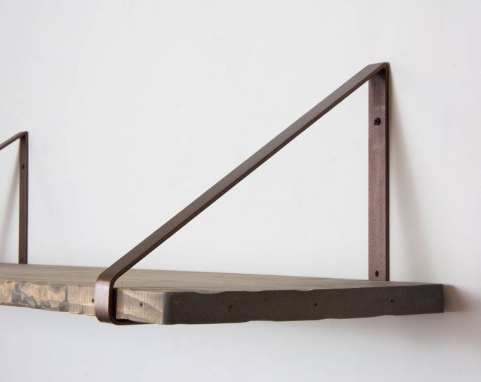 Paire de supports en acier Bronze - nouveau Design - Heavy Duty - meuble en fer design
