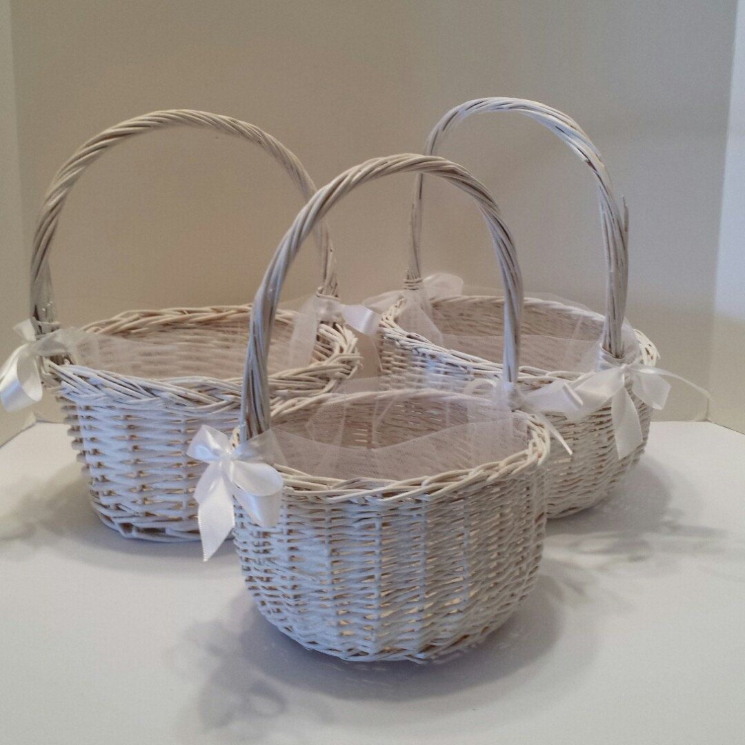 Sold New Flower Girl Baskets In My Shop Today Wedding Decor