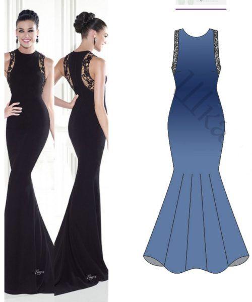 Evening Dress Pattern Free | Freebooks, Nähideen und Nähen