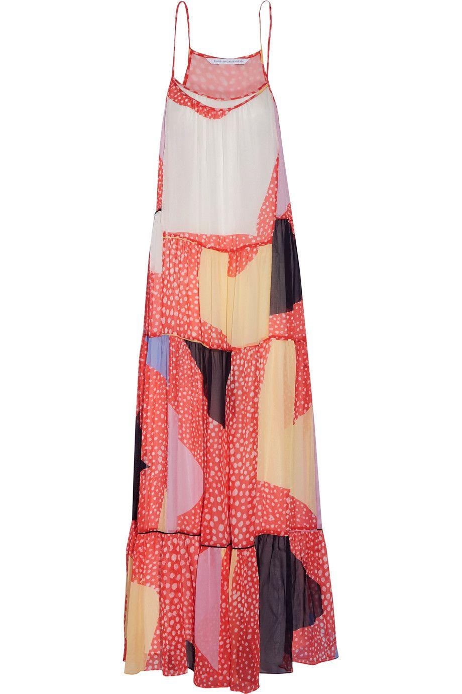 3273f69e30958 DIANE VON FURSTENBERG Baylee Pleated Printed Silk-Chiffon Maxi Dress. # dianevonfurstenberg #cloth #dress