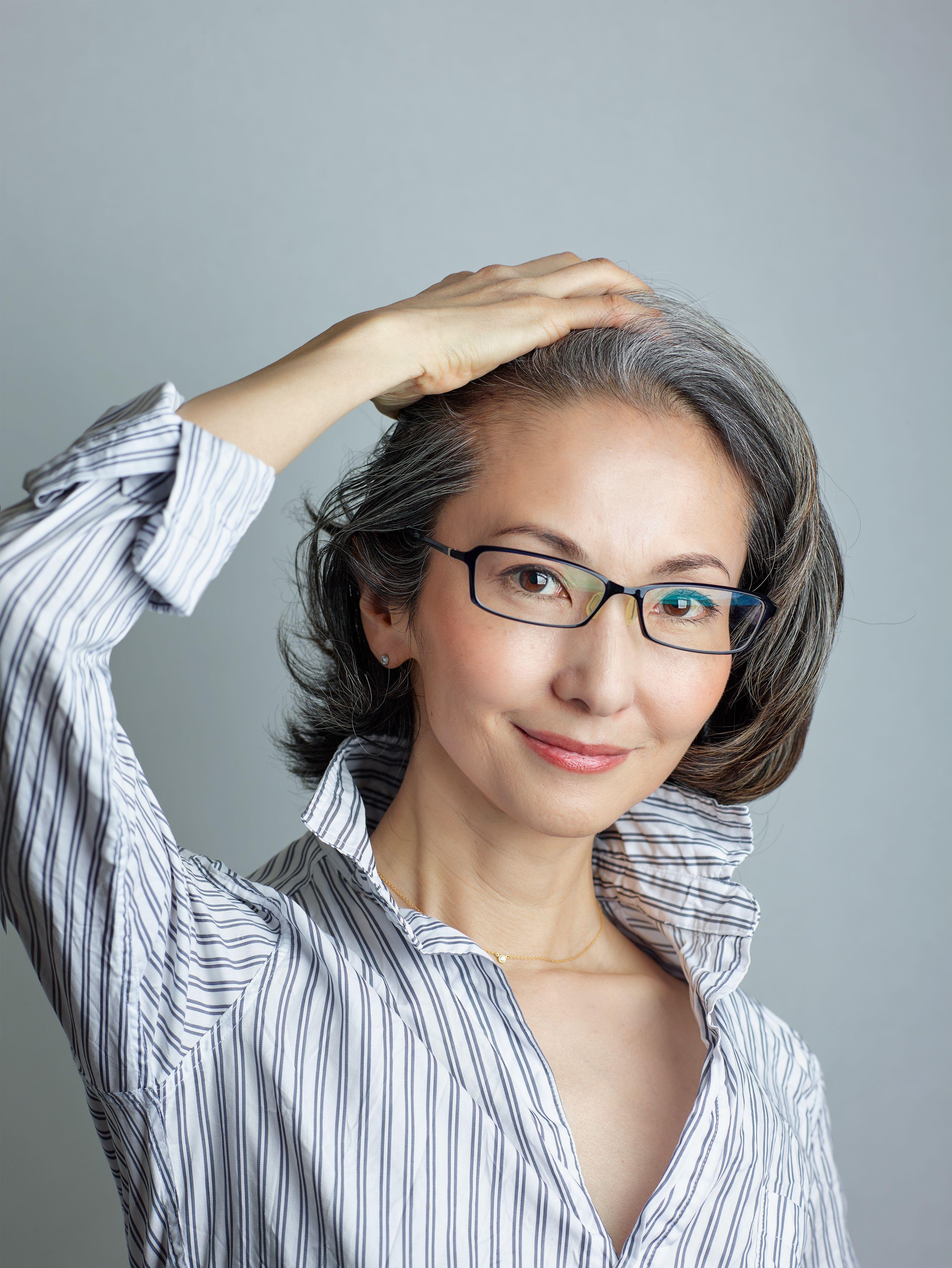 over50's Gray Hair Style Mayuko Miyahara from Japan grey