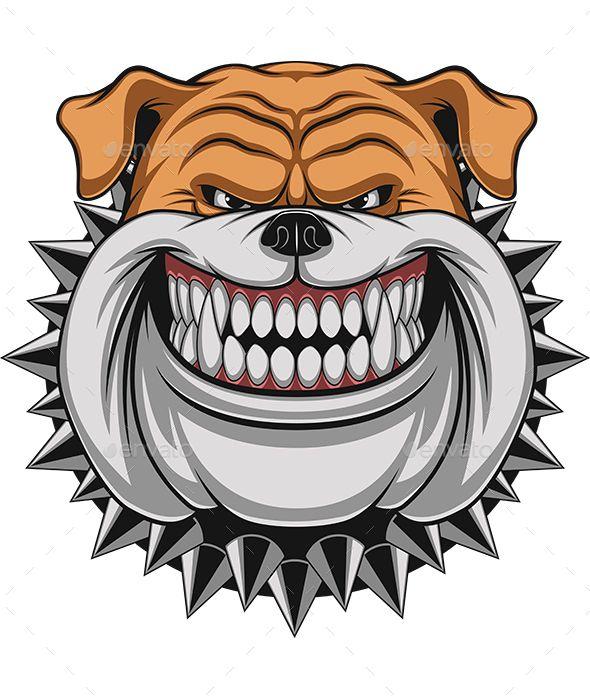 Angry Dog Angry Dog Dog Vector Bulldog Mascot
