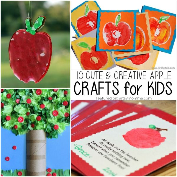 10 Creative Apple Crafts for Kids of All Ages   Johnny appleseed ...
