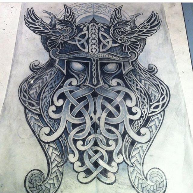 Odin Scandinavian Norse Needs Missing Eye Tattoo Tattooed Norse Tattoo Celtic Tattoos Celtic Tattoo