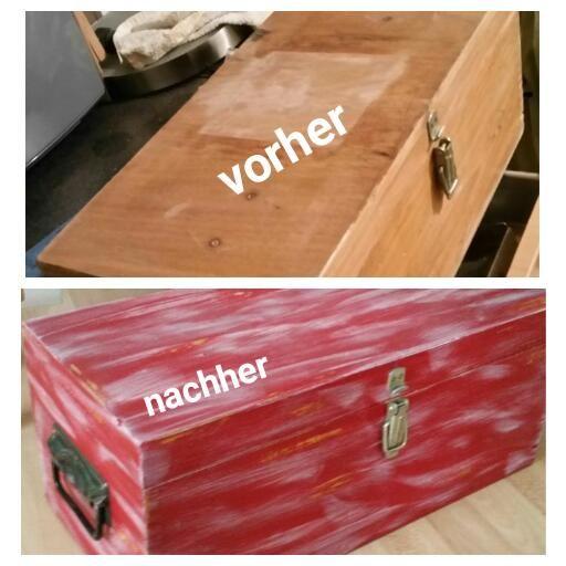 Diy Alte Holz Kiste. Vorher/ Nachher. Einfach Alles Abschleifen