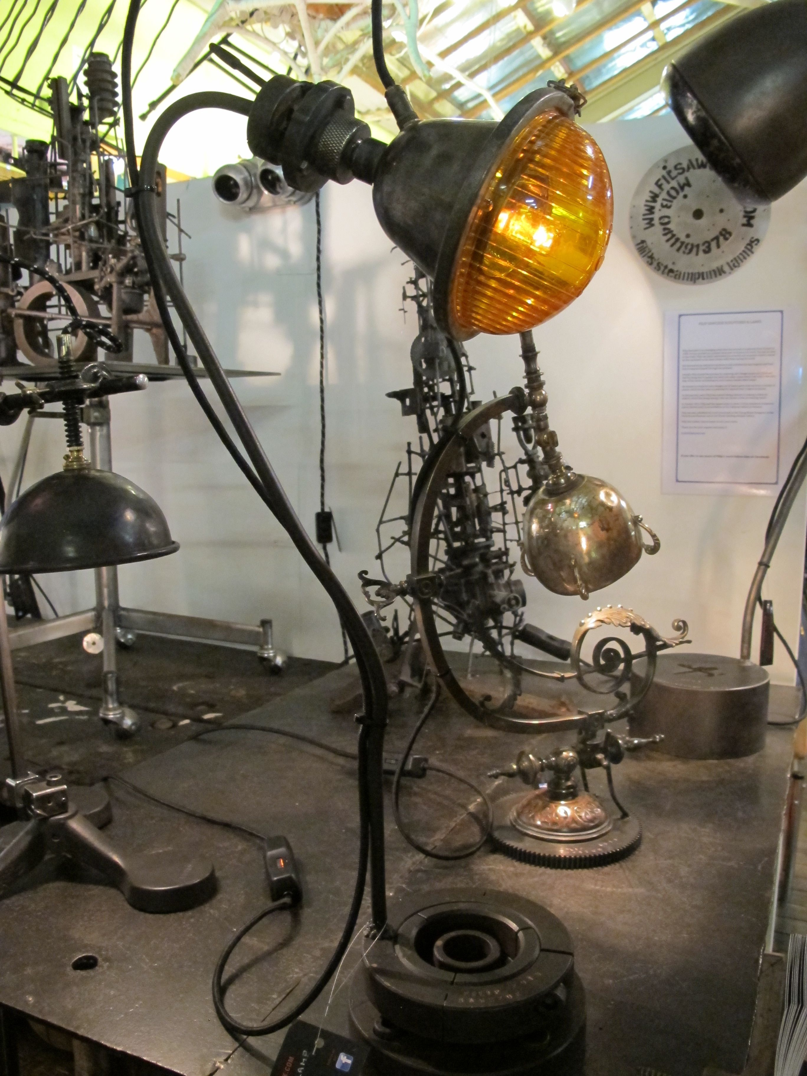 Artist made steam punk lamps-by Filip Sawchuk.