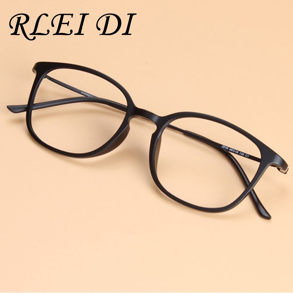 68e2b227690 2017 Fashion Women Super Big Geek Glasses Frame Tungsten Carbon Steel Eyewear  Men Vintage Ultra Thin Arm Nerd Myopia Eyeglasses