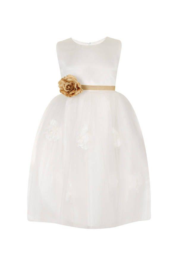 Rose Petal Flower Girl Dress