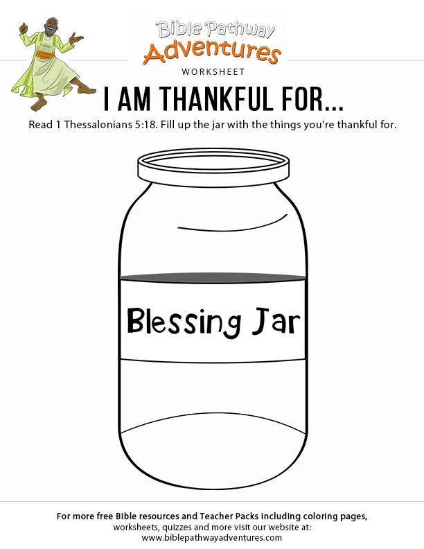 Printable Thanksgiving worksheet: I am thankful for ...