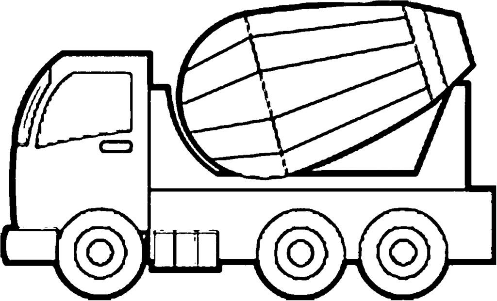 Image Result For Concrete Mixer Coloring Page Healthy Meals For Two Truck Coloring Pages Color