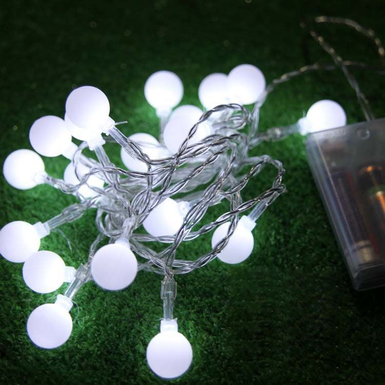 2m 20 Bulbs battery operated LED ball strings luminaria decoration ...