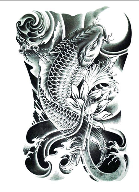 Realistic Koi Tattoo Large Size Ultracooltattoos Koi Tattoo Koi Tattoo Design Koi Dragon Tattoo
