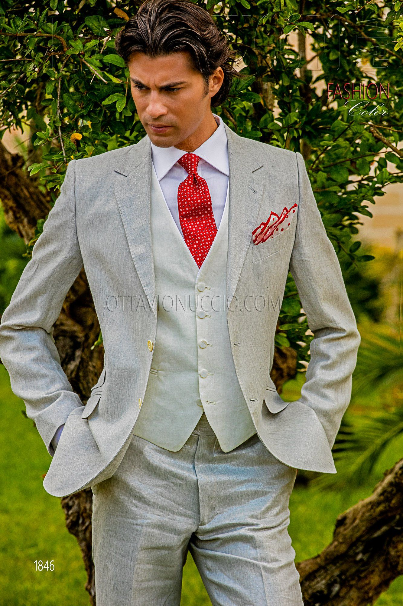 Pearl gray linen suit for summer weddings #luxury #menswear ...