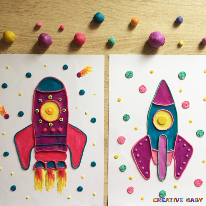 Картинки лепка космос